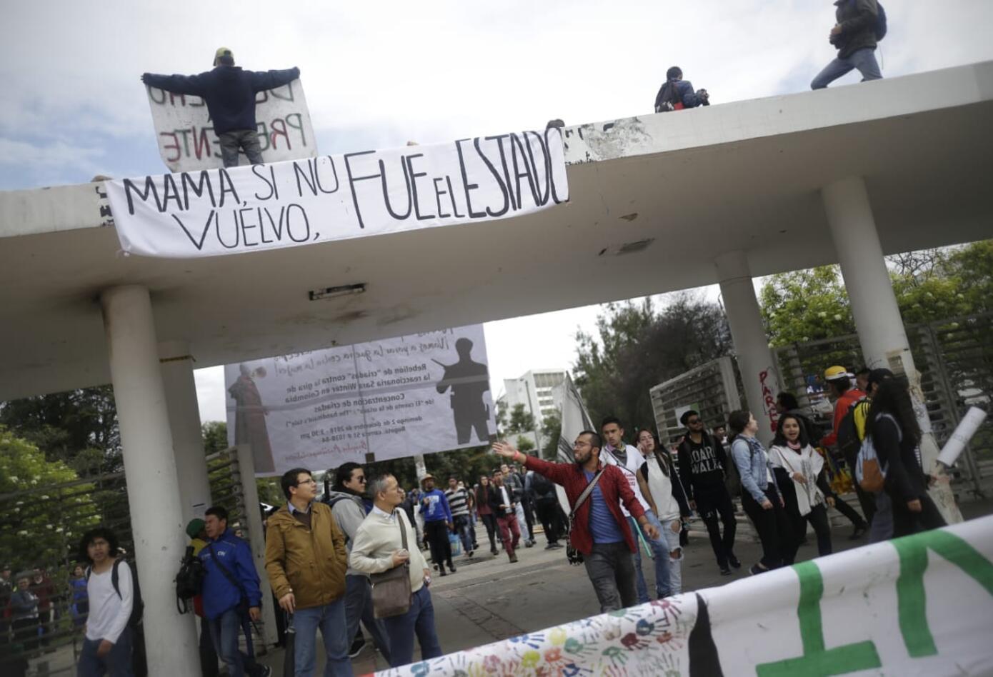 Marchas de los estudiantes universitarios en Bogotá 2