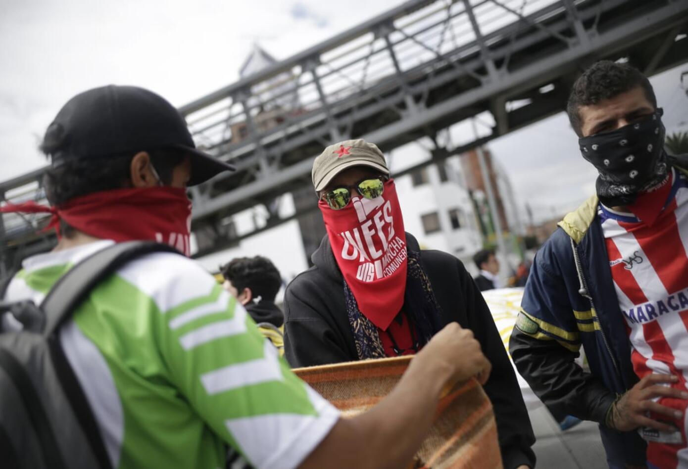 Marchas de los estudiantes universitarios en Bogotá 4