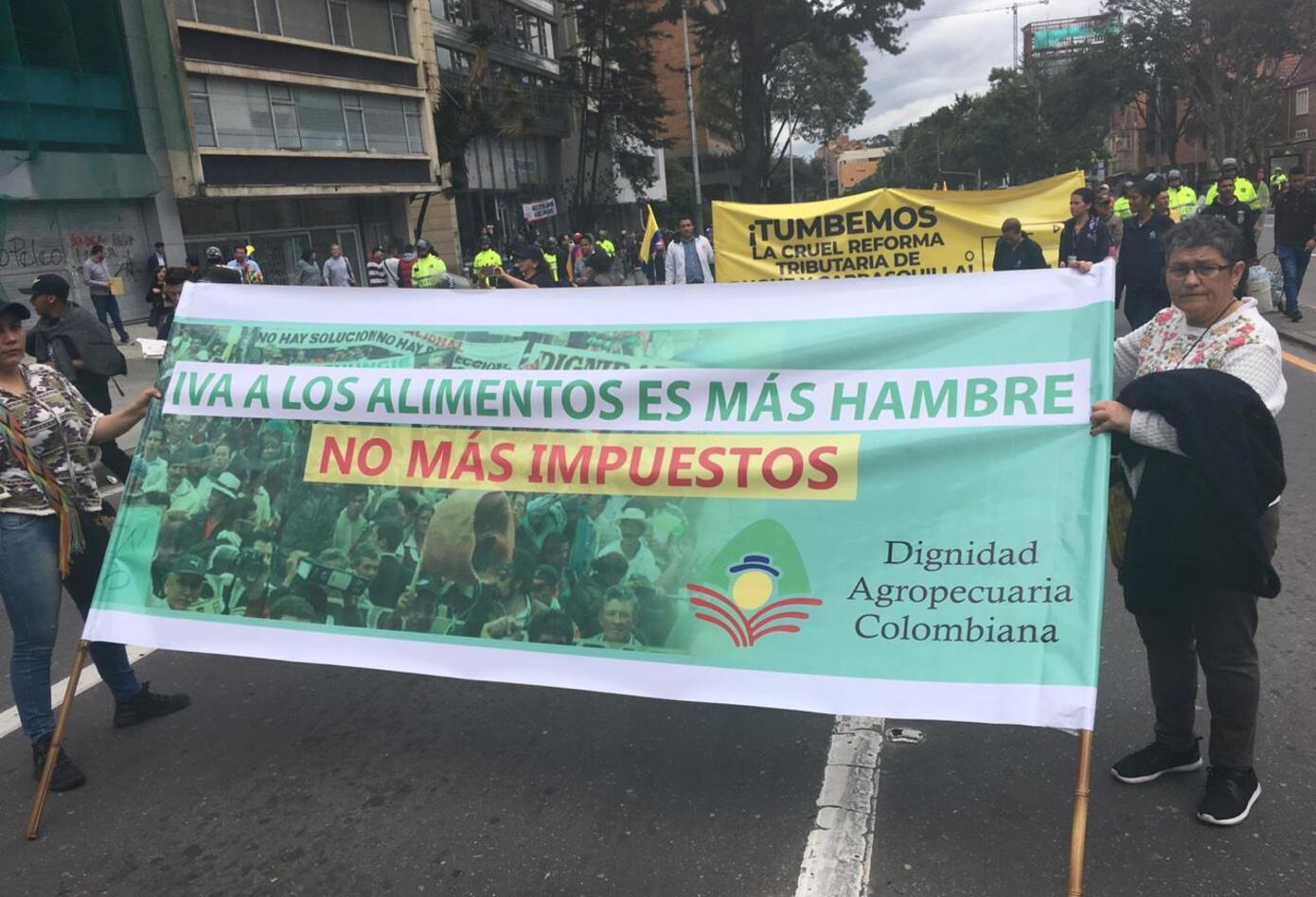 Campesinos por la Carrera séptima en marcha nacional
