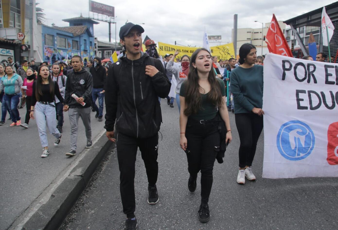 Marchas de los estudiantes universitarios en Bogotá 7