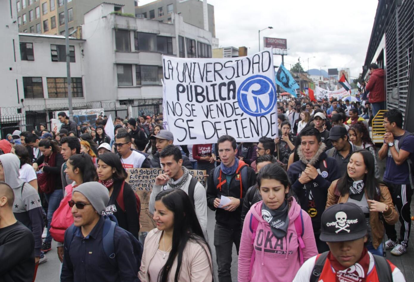 Marchas de los estudiantes universitarios en Bogotá 10