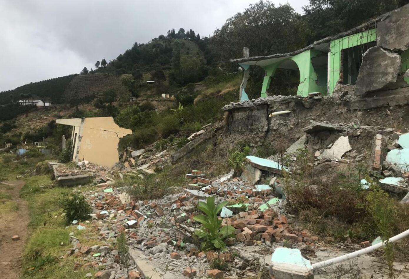 Casas destruidas en Aponte Nariño