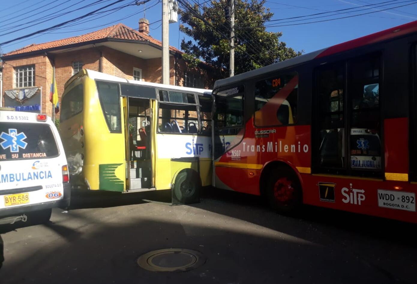 El accidente registrado en la calle 37, con carrera 13, en Bogotá
