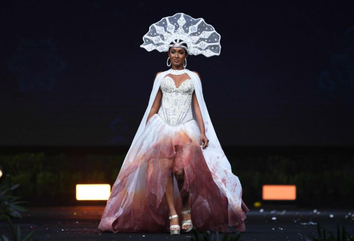 Traje típico de Angella Dalsou, Miss Saint Lucia