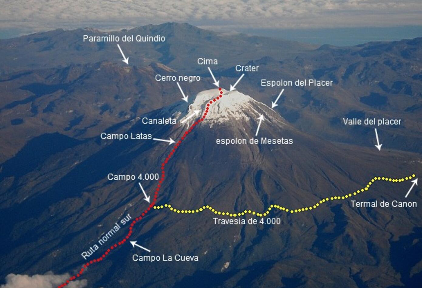 Rutas Parque Los Nevados
