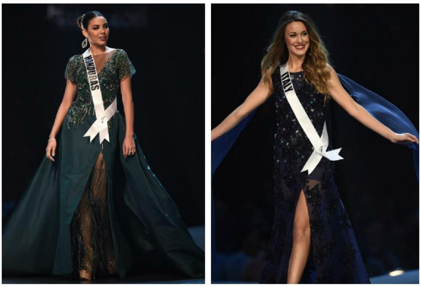 Miss Honduras y Miss Italia en Miss Universo 2018
