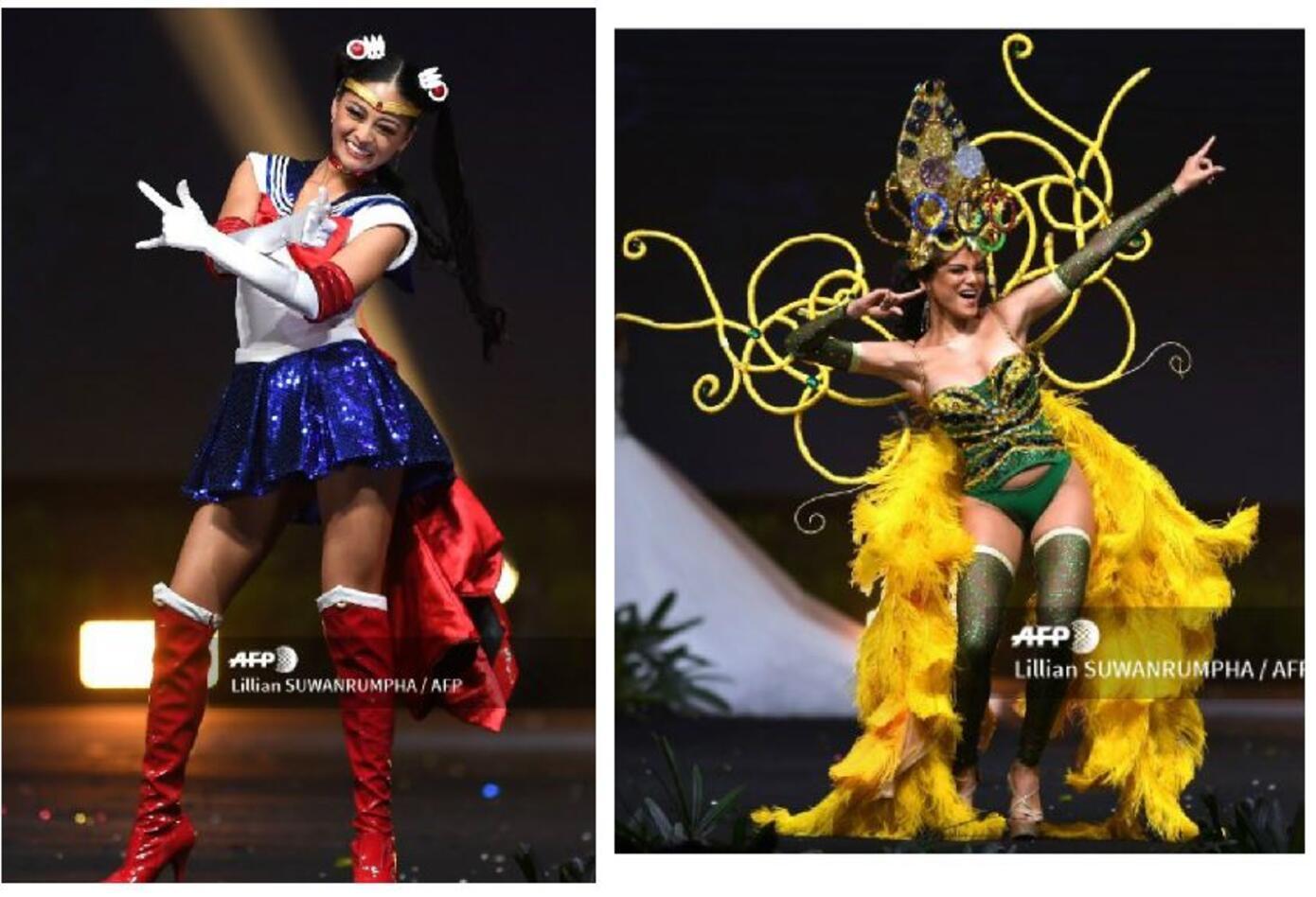 Trajes típicos de Miss Japón y Miss Jamaica