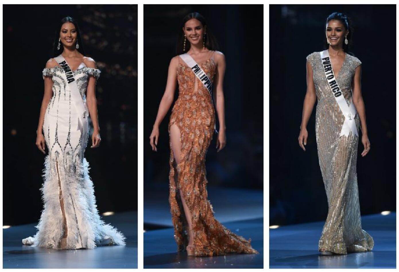 Miss Panamá, Miss Filipinas y Miss Puerto Rico en Miss Universo 2018