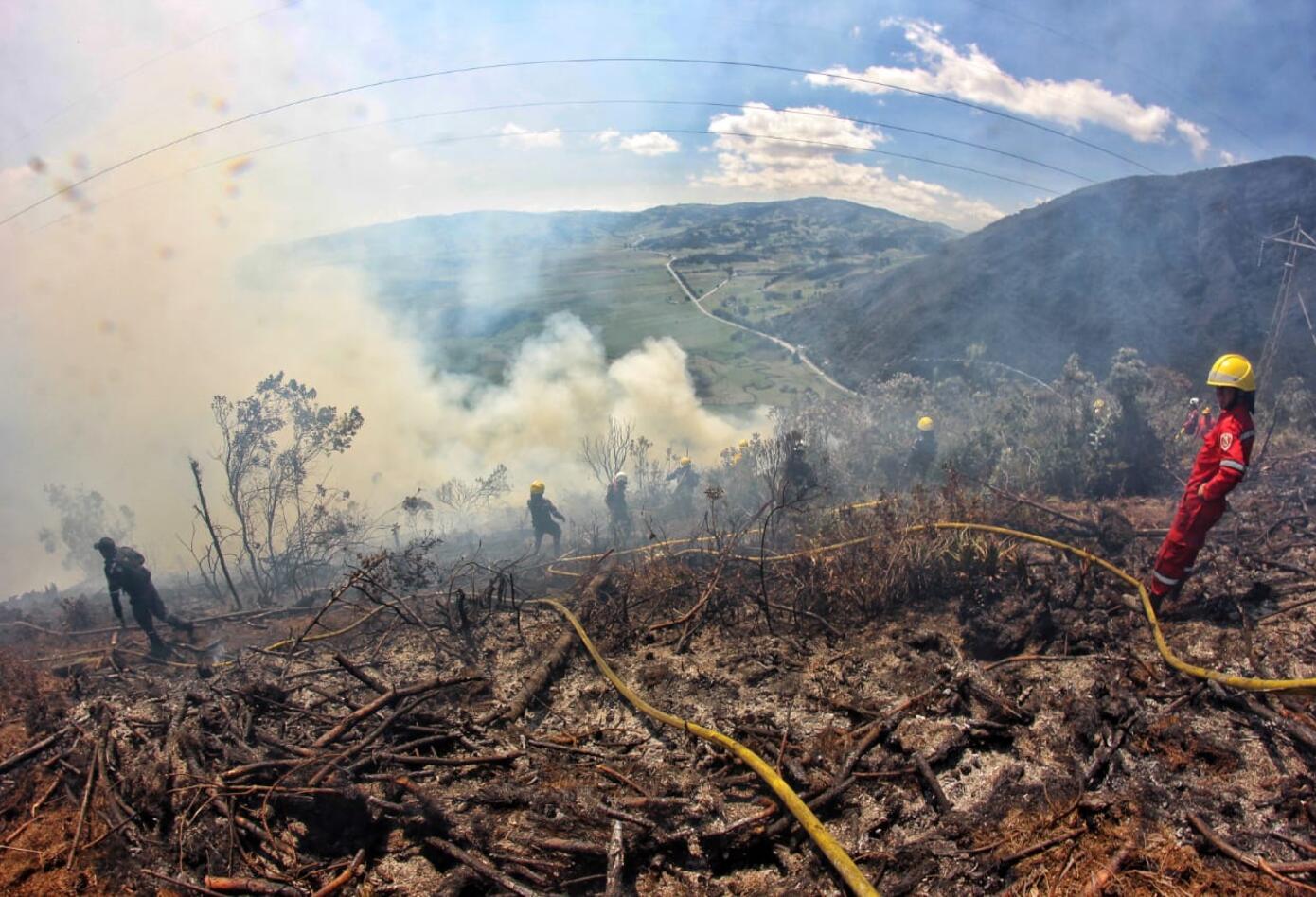 Incendio forestal que se registró en zona rural de Cómbita (Boyacá) consumió 18 hectáreas de vegetación nativa.