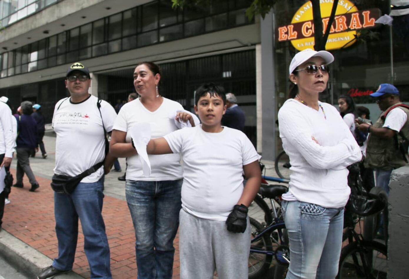 Marcha contra la violencia en Bogotá