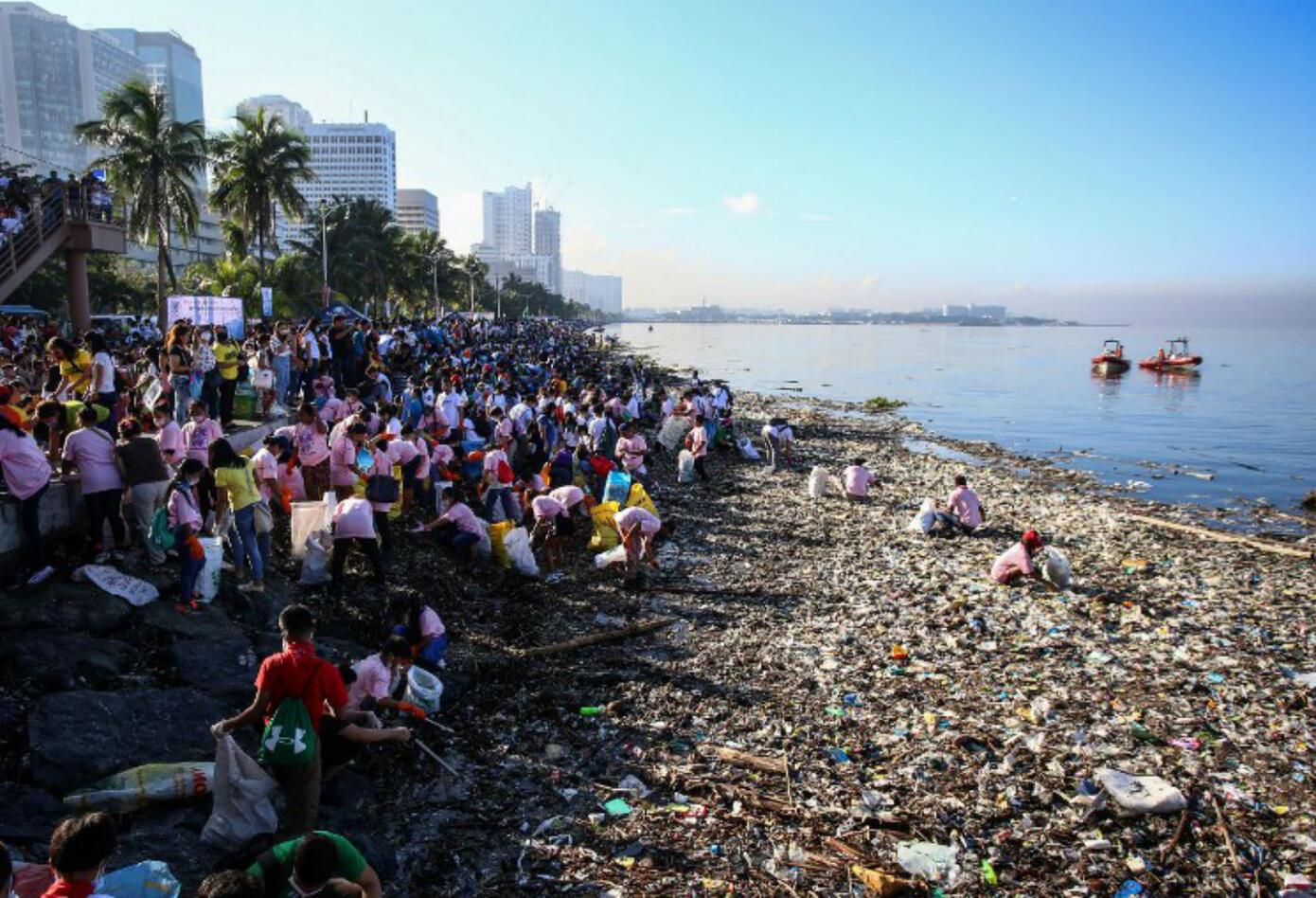 Contaminación del mar en Bahía de Manila
