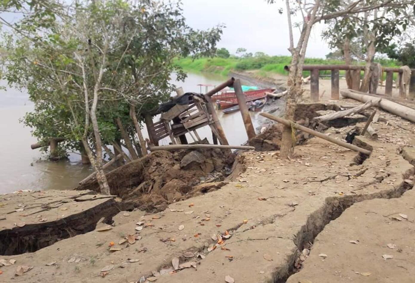 Las obras de contención de inundaciones se han deteriorado por la erosión