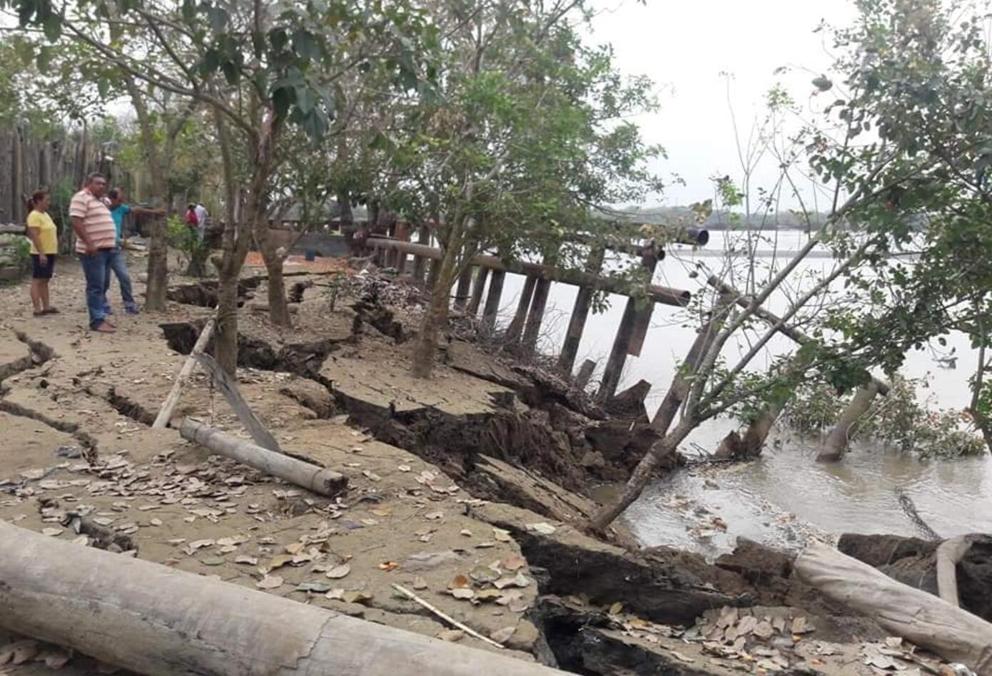 Erosión destruye las obras de mitigación de inundaciones