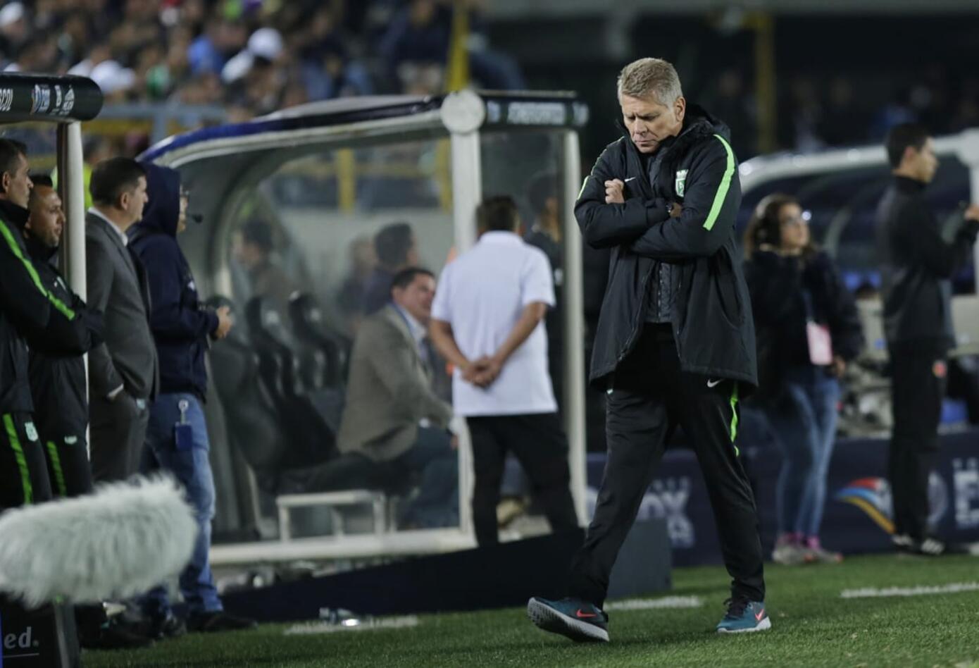 Paulo Autuori, nuevo entrenador de Atlético Nacional analizando el juego ante Millonarios