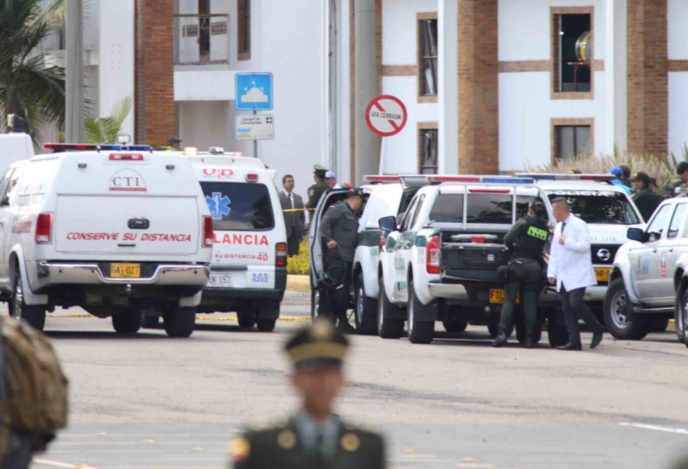 Carro bomba Escuela General Santander