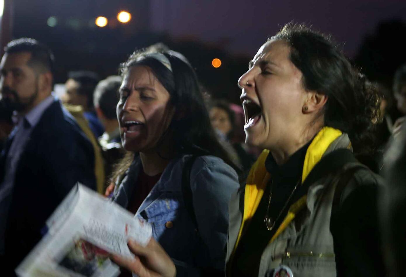 Plantón contra el fiscal general, en Bogotá