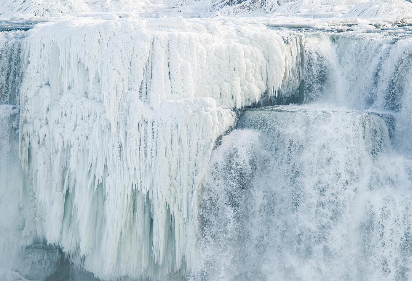Las Cataratas del Niágara, ubicadas en la frontera entre Estados Unidos y Canadá