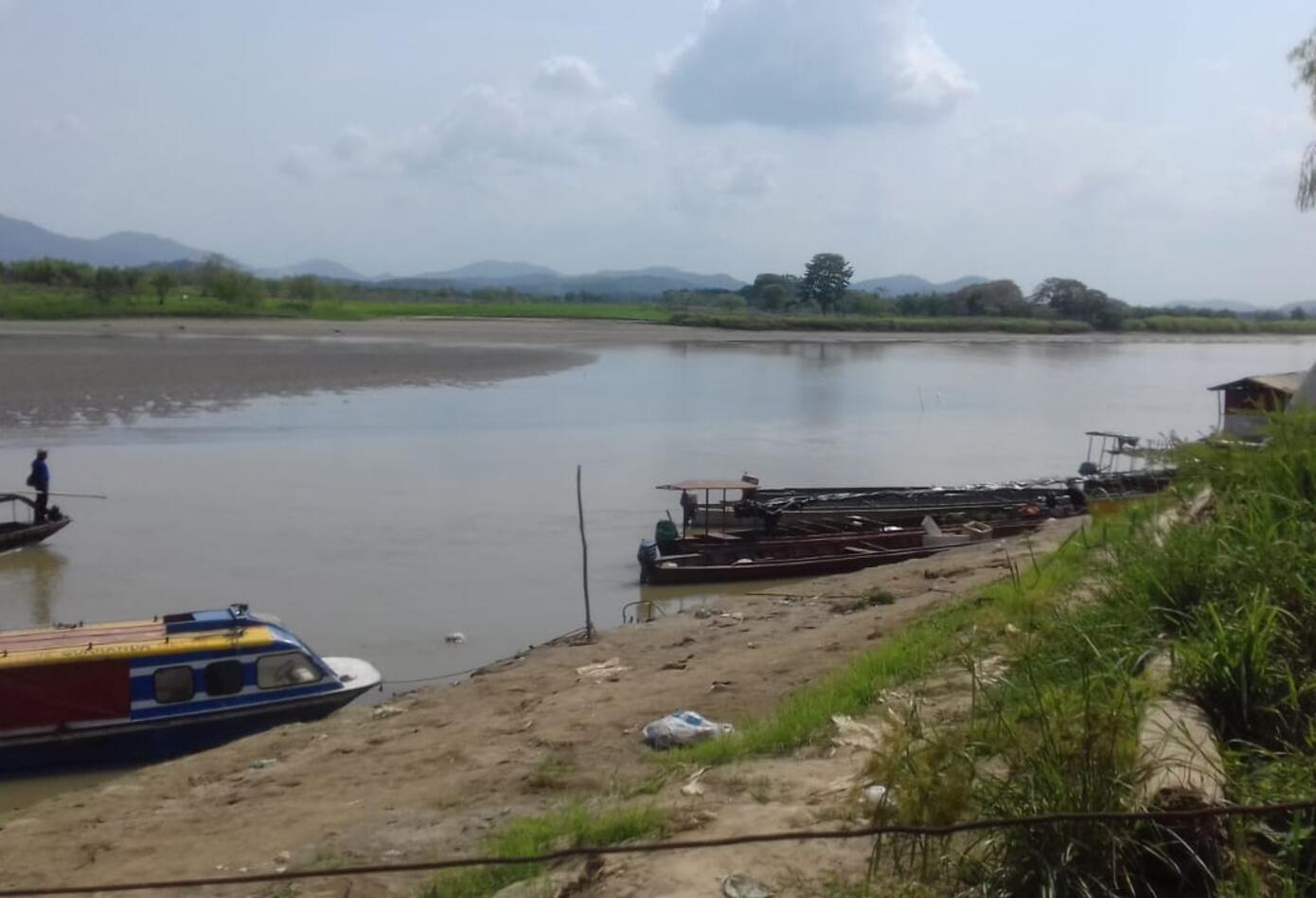 La baja de las aguas del río Cauca pone en riesgo la navegabilidad