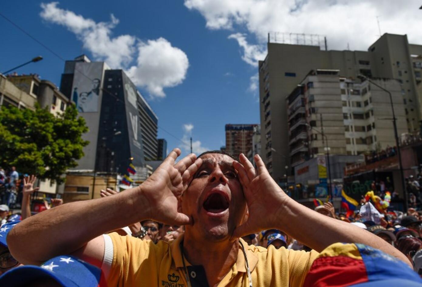 Nuevas marchas en Caracas contra el régimen de Nicolás Maduro