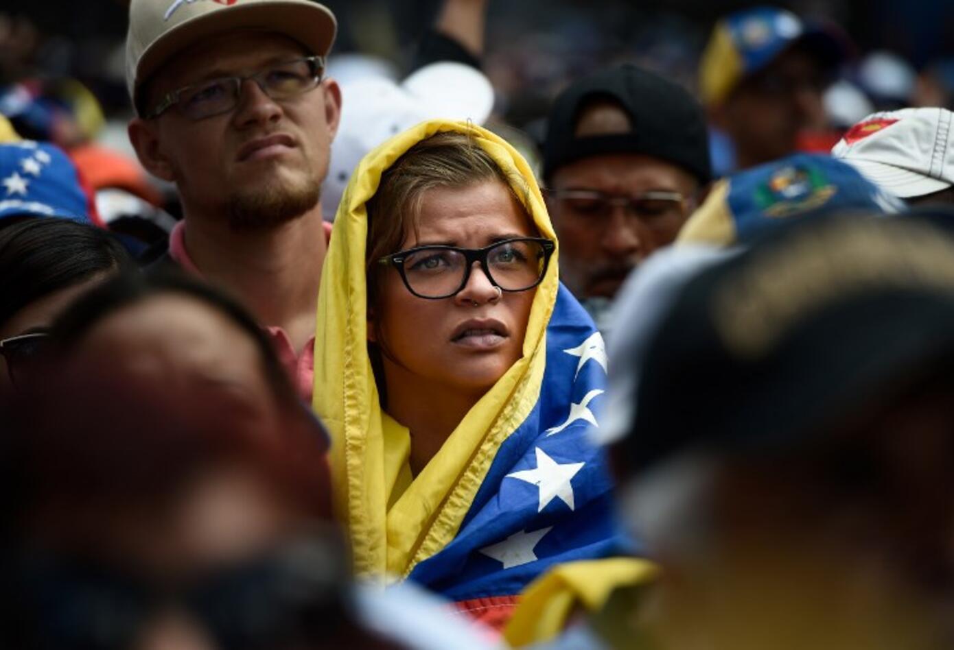 Manifestaciones de la oposición en Caracas