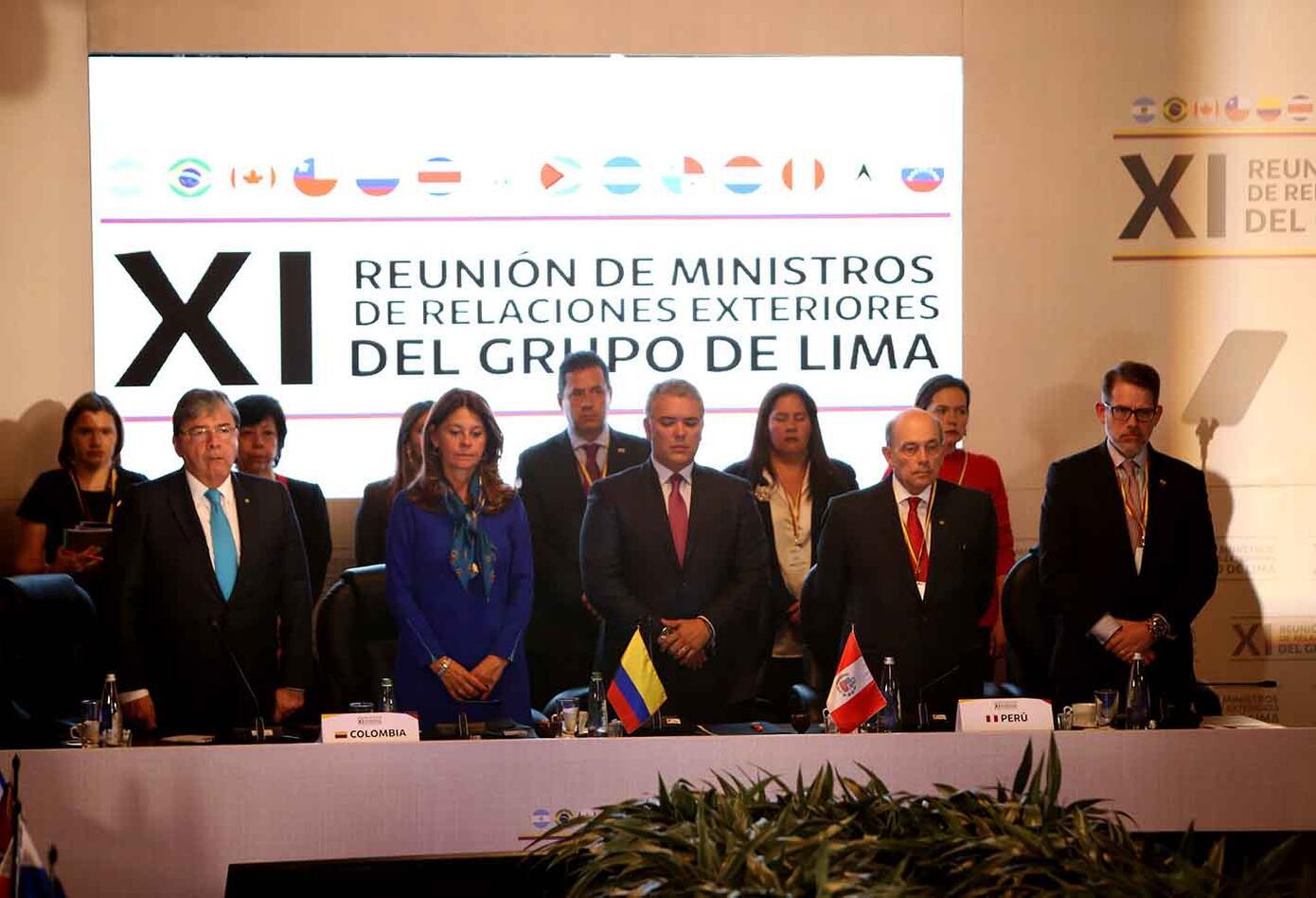 Así ha transcurrido la reunión del Grupo de Lima en Bogotá.