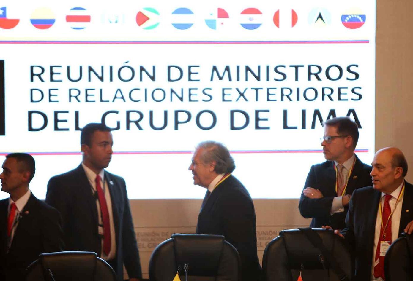 Así se vio el encuentro del Grupo de Lima en Bogotá.