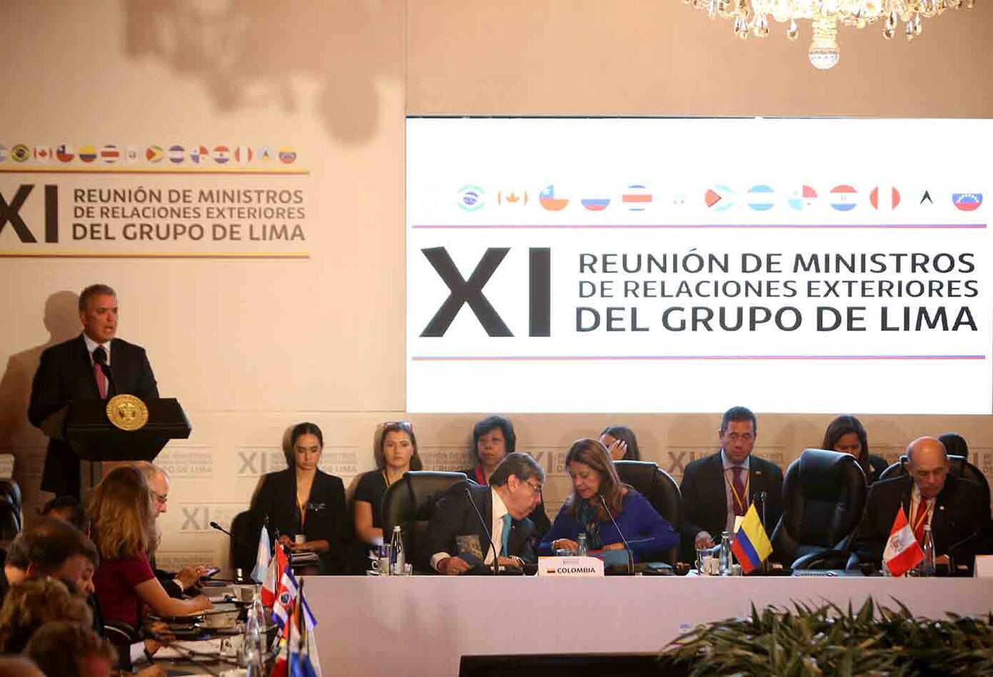 El encuentro del Grupo de Lima en Bogotá fue citado ante la crisis en Venezuela.