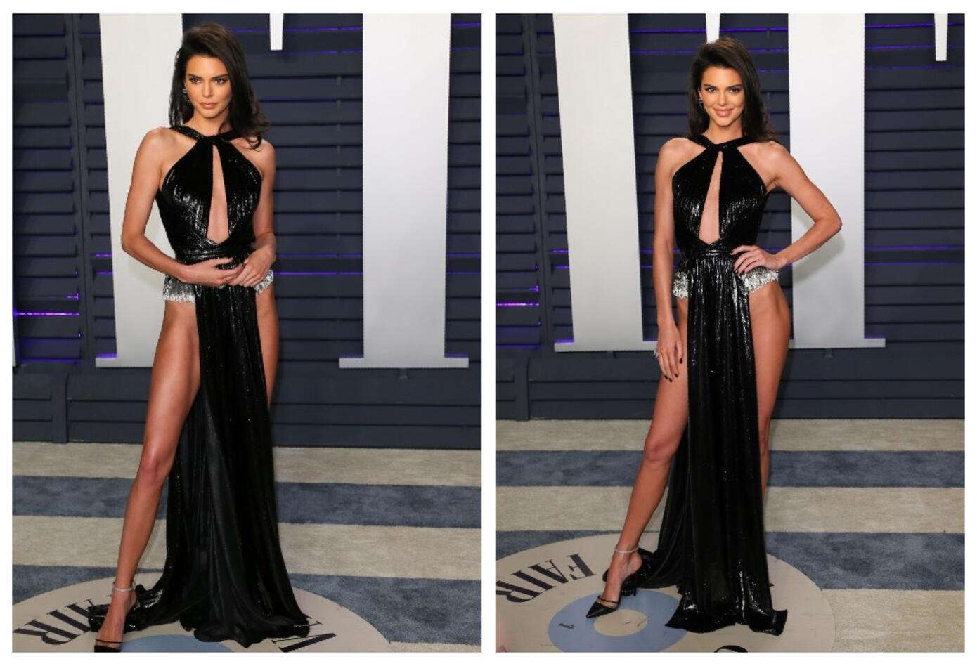 Así lució Kendall Jenner en los Premios Óscar 2019.