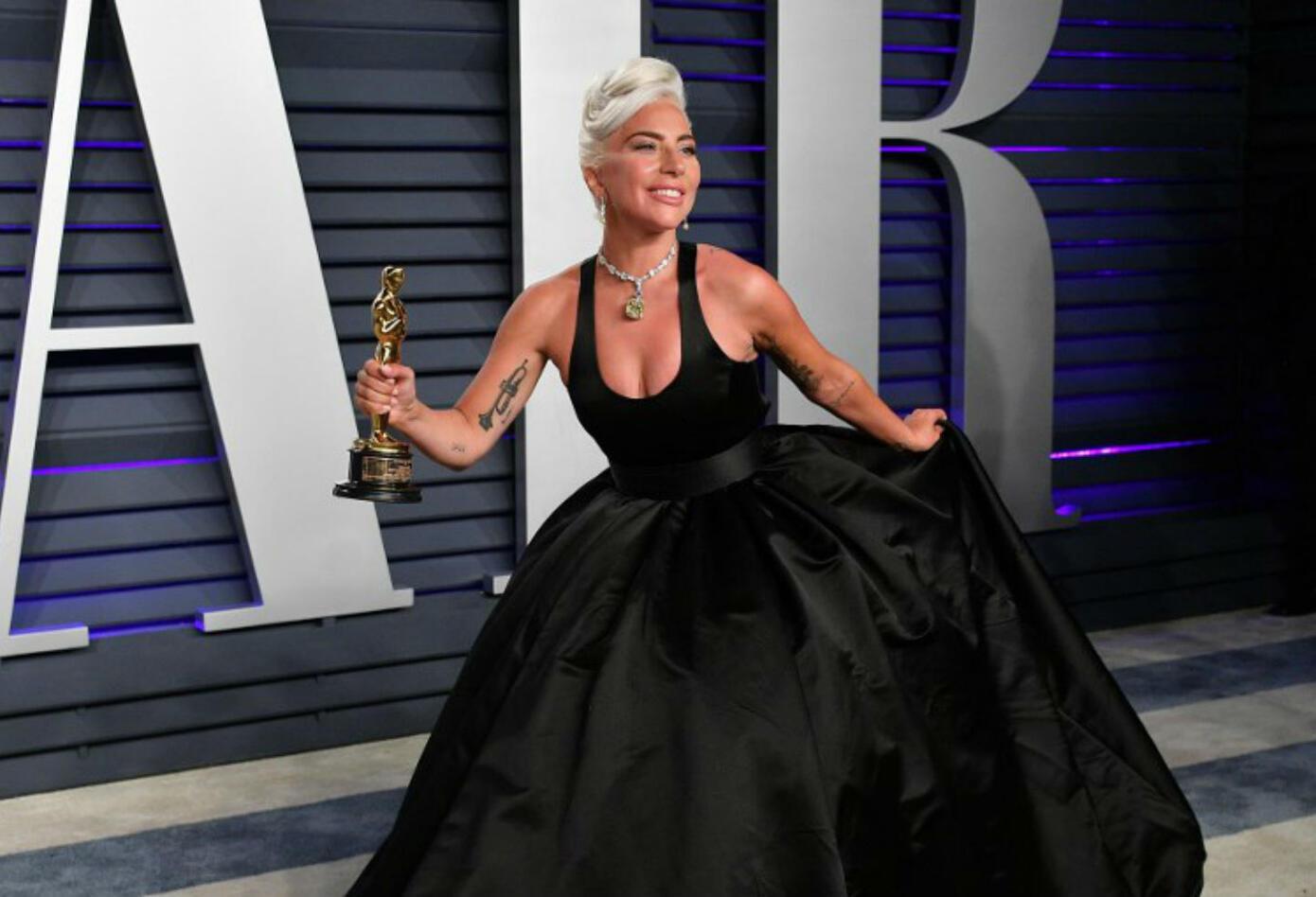 Lady Gaga en los Premios Oscar 2019.
