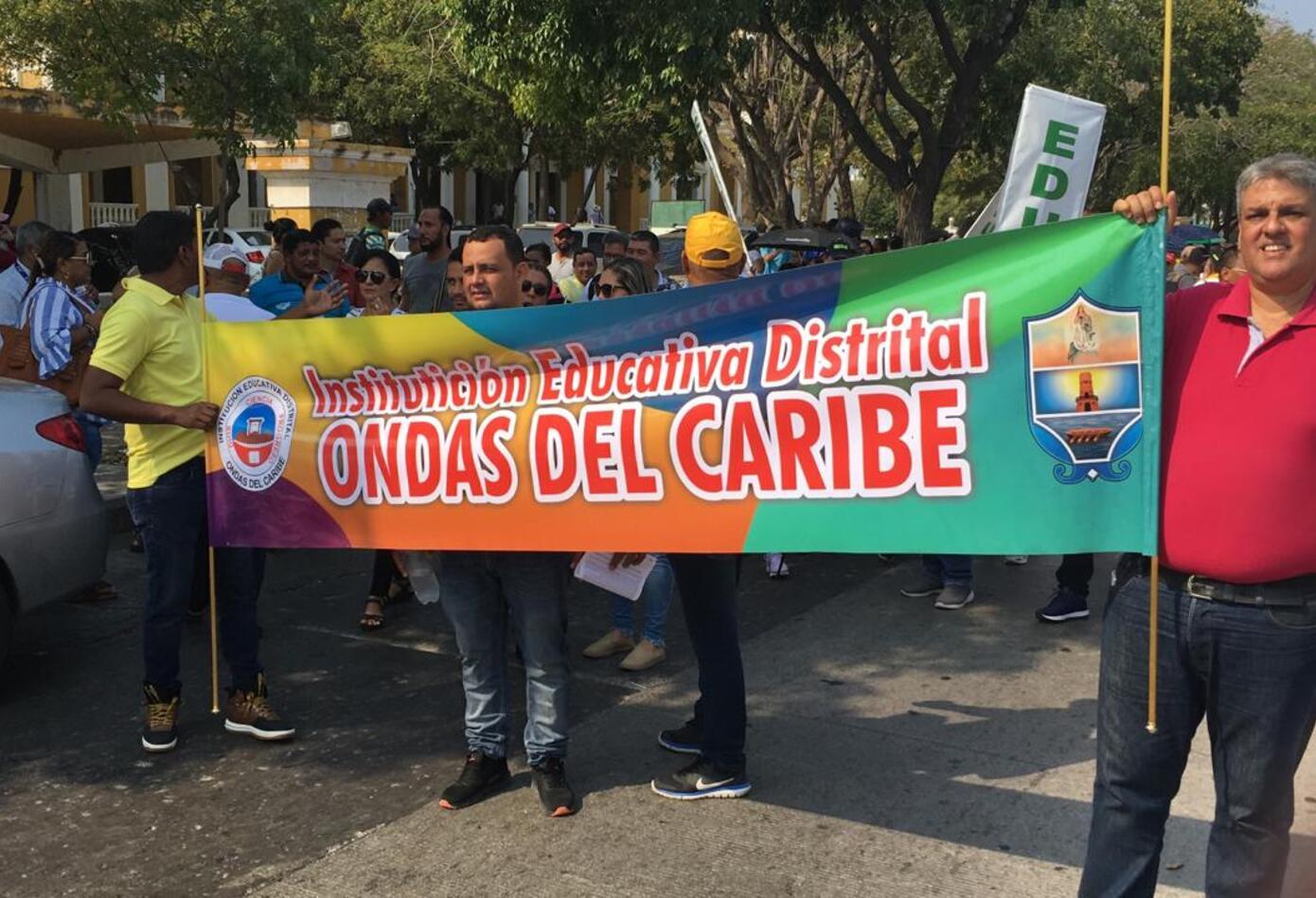 Marcha Docente Santa Marta