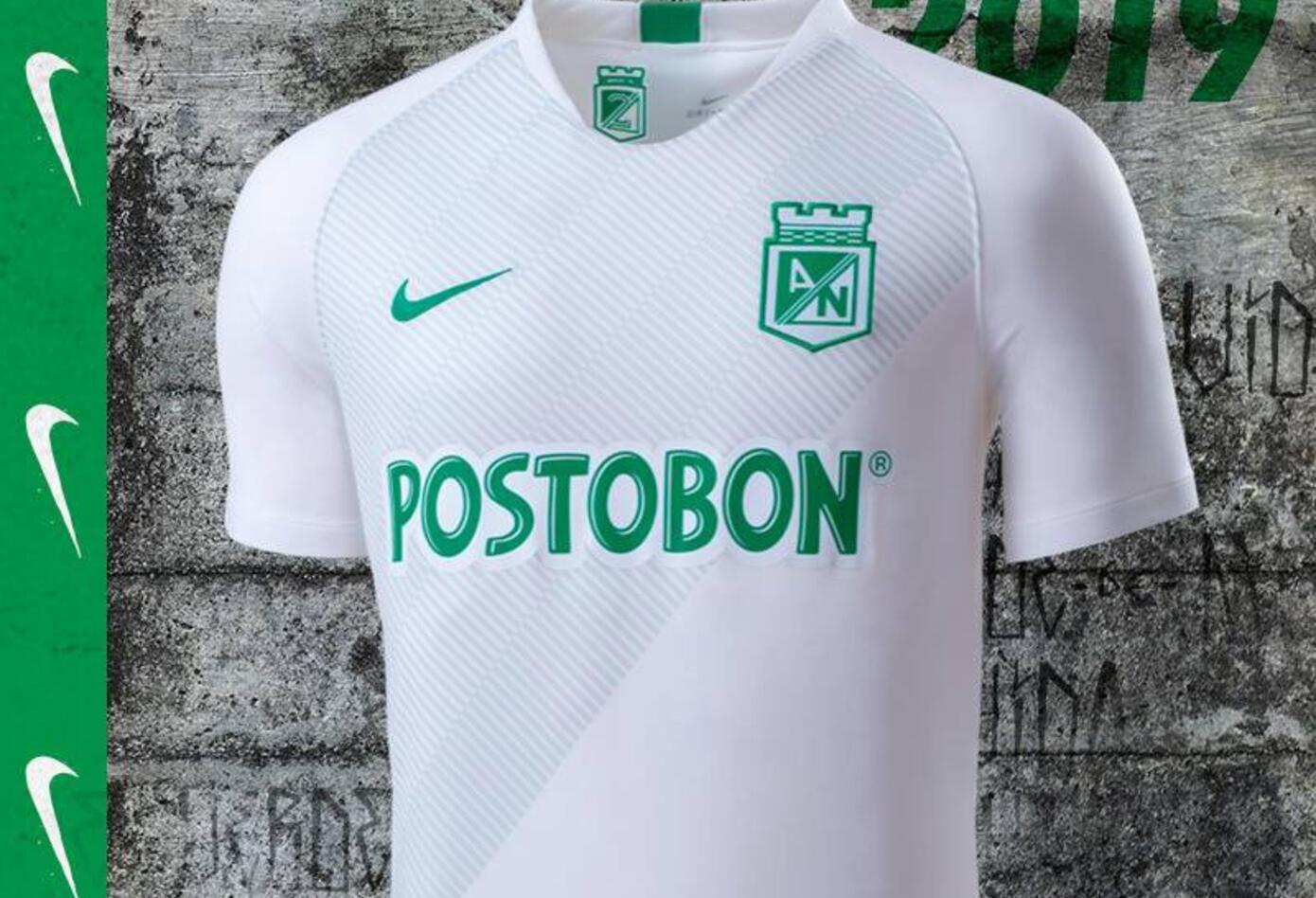 La camiseta de visitante de Atlético Nacional en 2019
