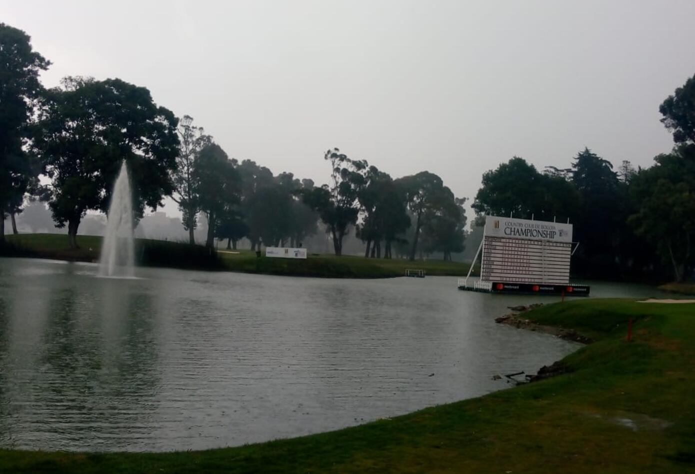 Fuertes lluvias en el Country Club de Bogotá