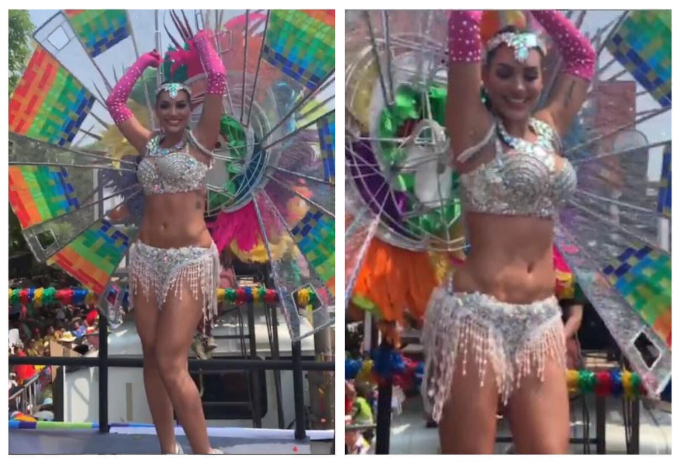 Andrea Valdiri en el Carnaval de Barranquilla 2019