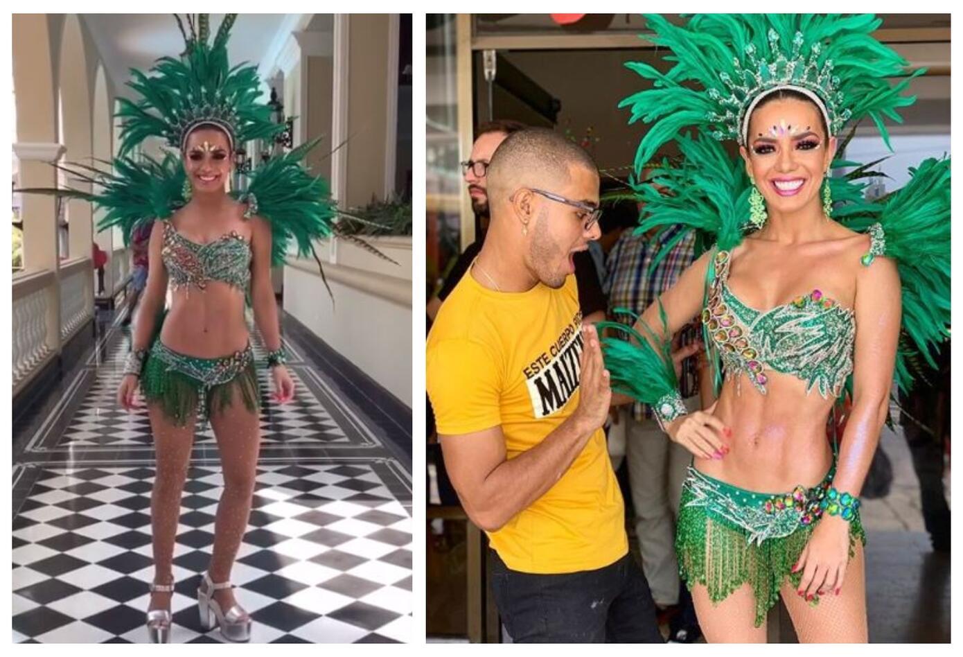 Elianis Garrido en el Carnaval de Barranquilla 2019.