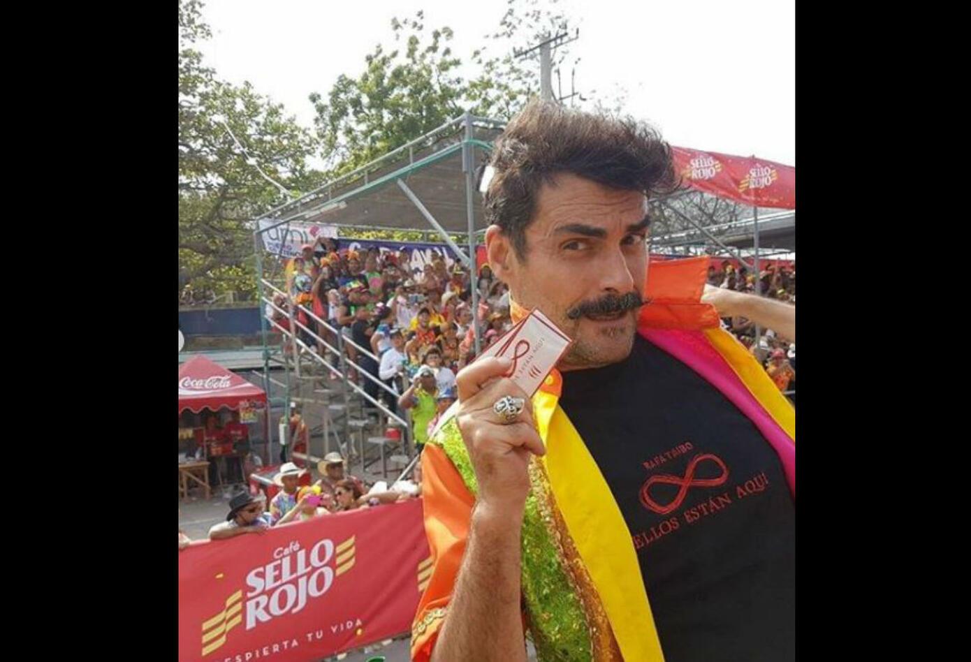 Rafael Taibo en el Carnaval de Barranquilla