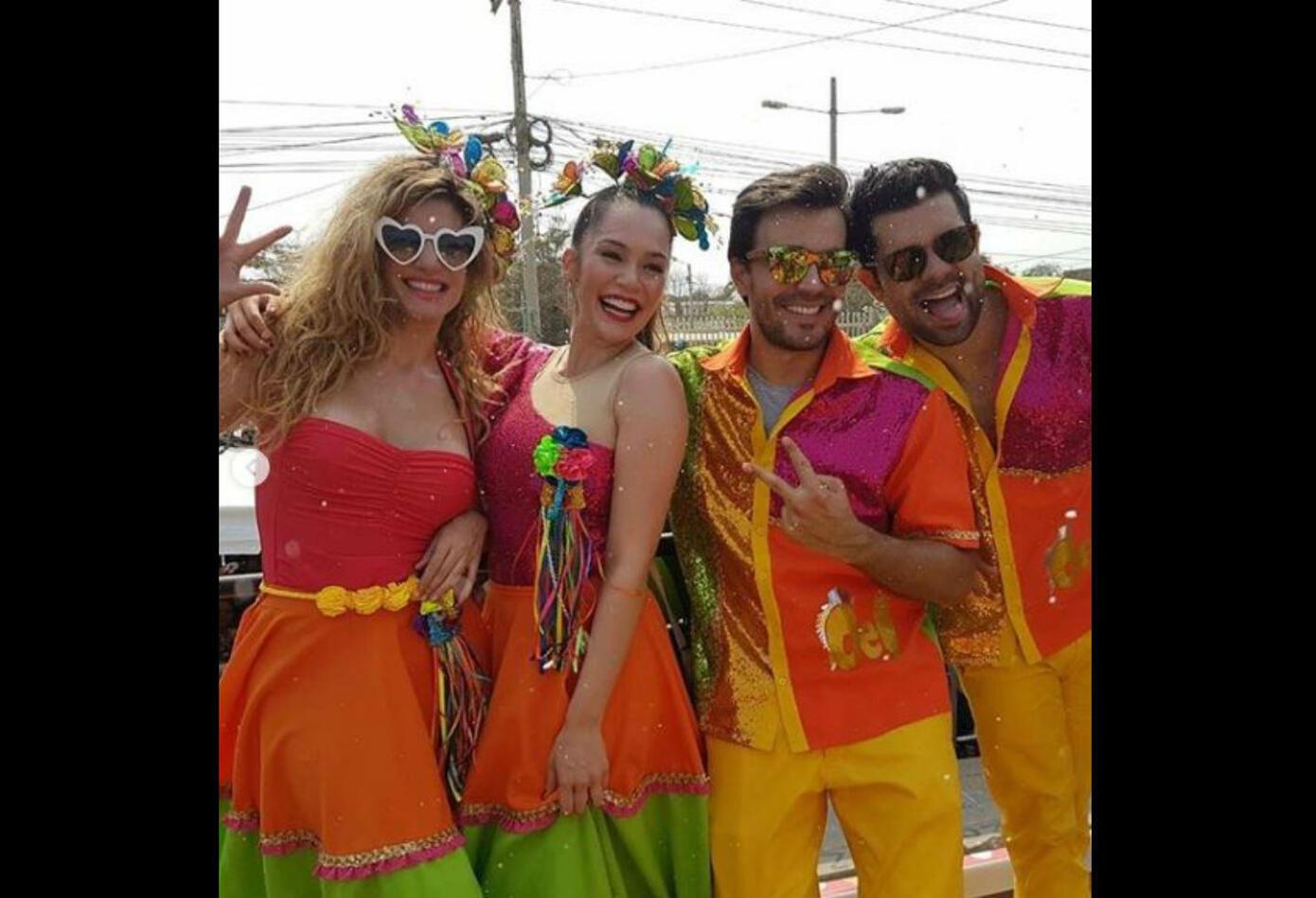 Actores de la Ley del Corazón en el Carnaval de Barranquilla 2019