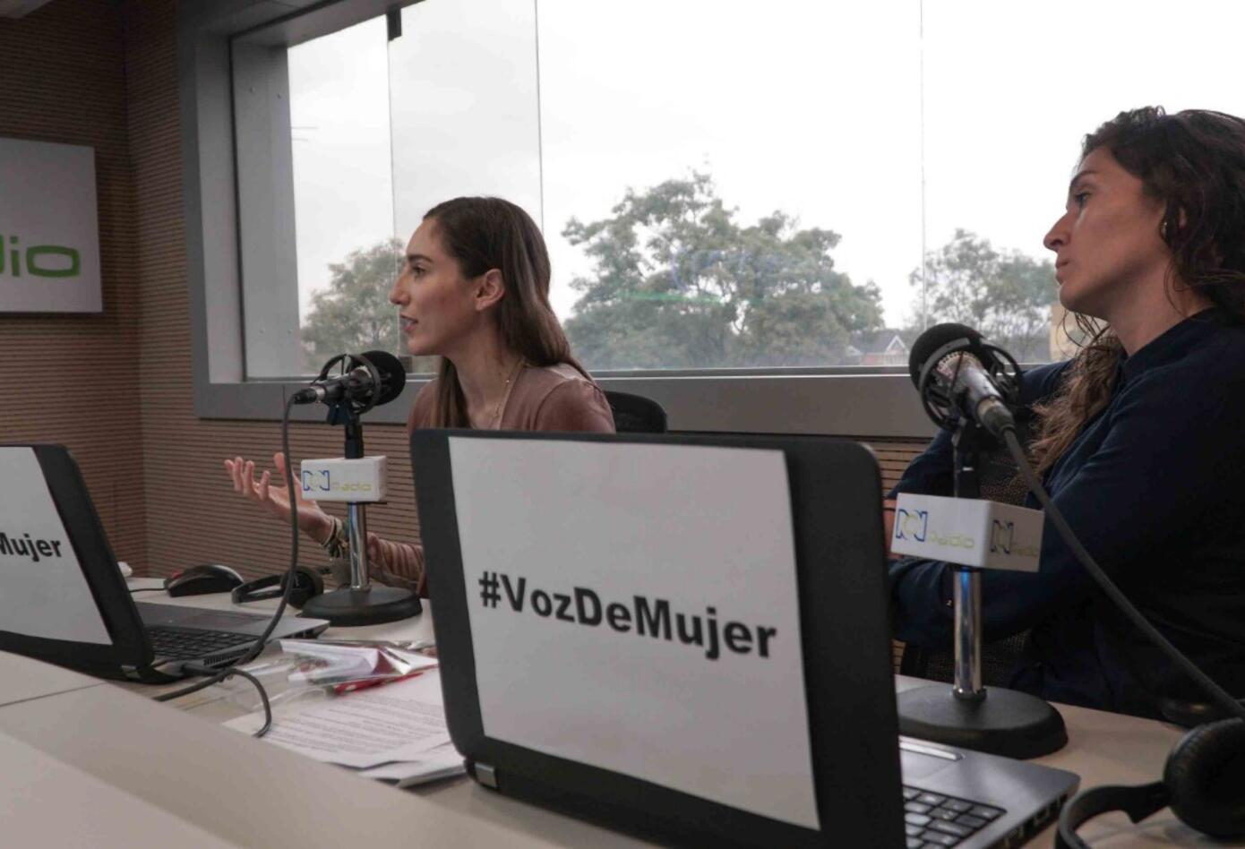 Jugadoras de la Selección Colombia Femenina en RCN Radio