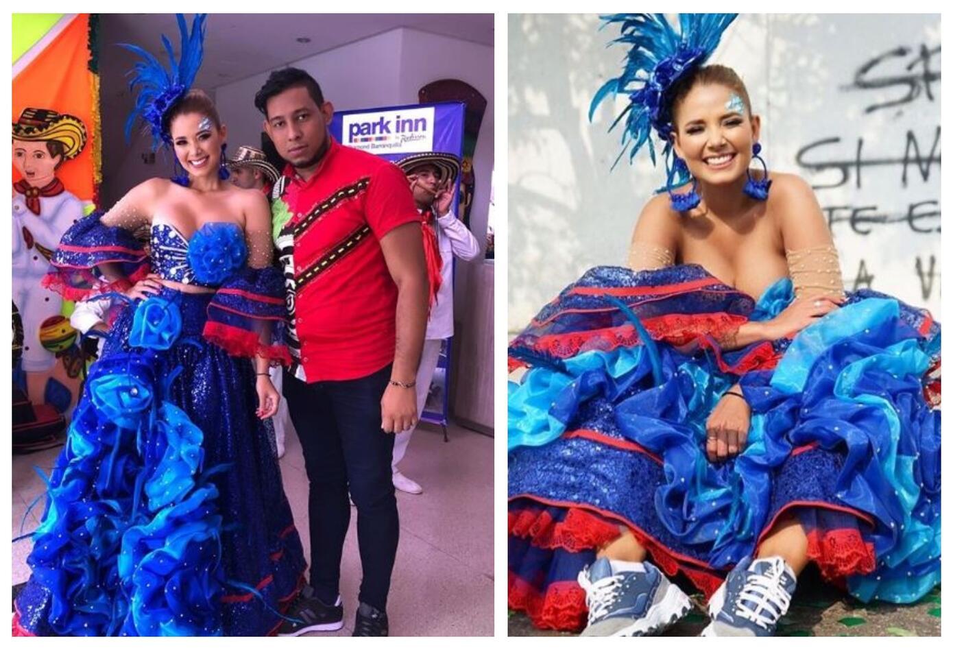 Melissa Martínez también hizo parte del Carnaval de Barranquilla