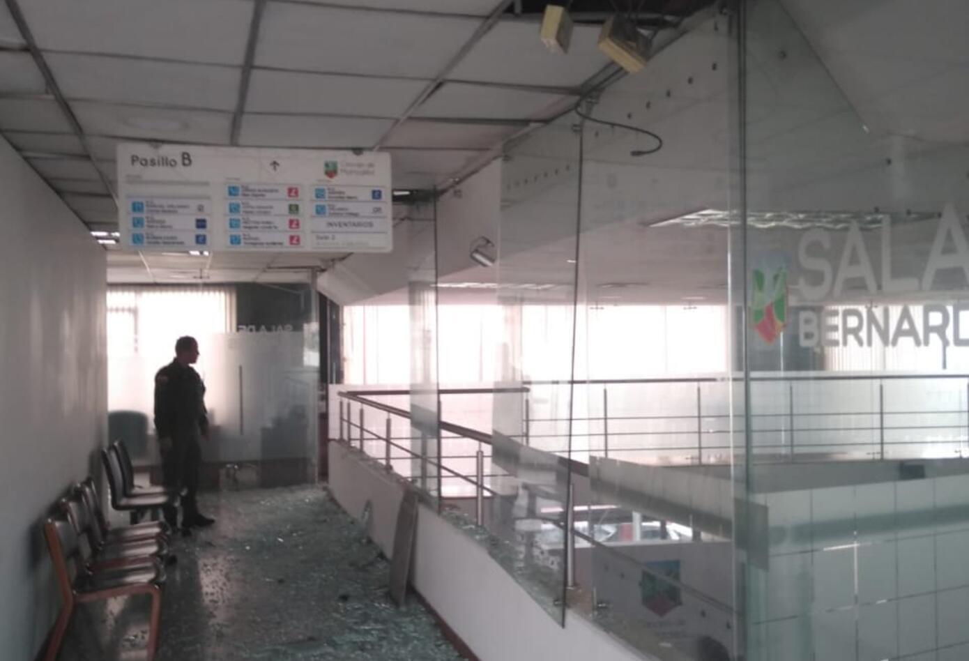 Estos son los daños en Concejo de Manizales por el fuerte temblor de este sábado.