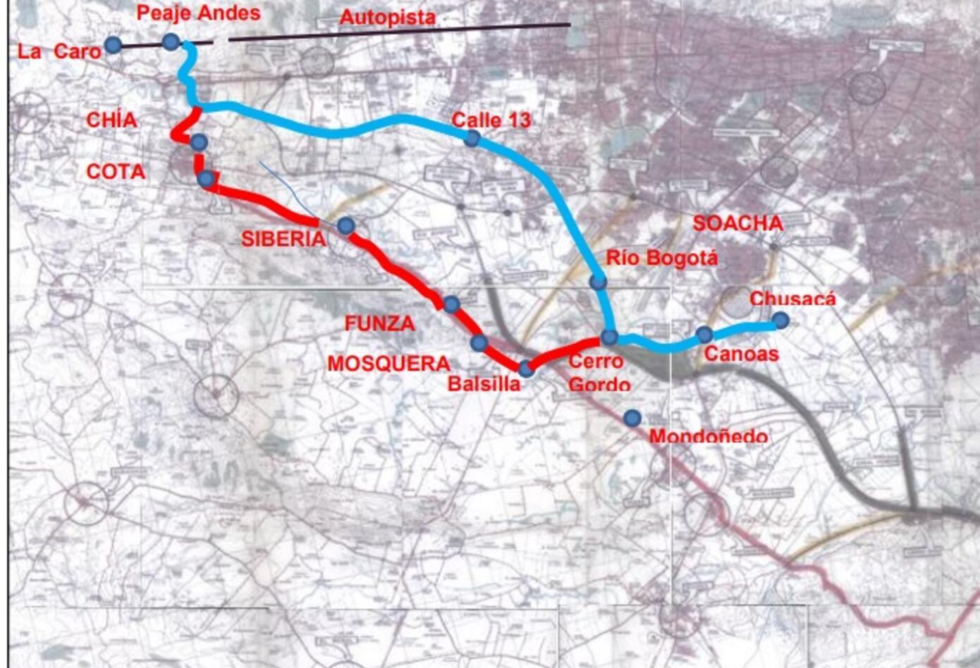 Plano Avenida Longitudinal de Occidente