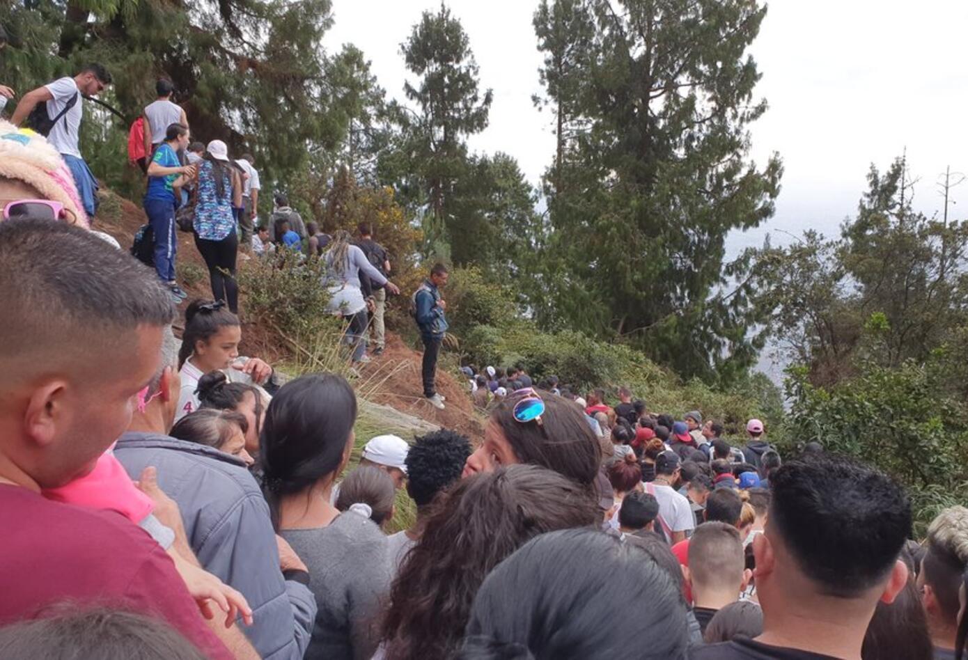 Sendero peatonal de Monserrate, Viernes Santo