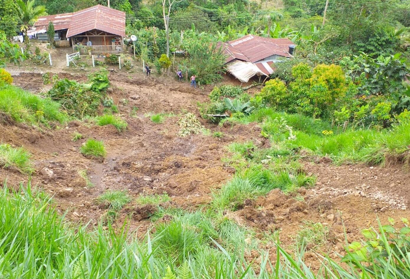 Las lluvias habrían provocado los deslizamientos de tierra en Otanche (Boyacá)