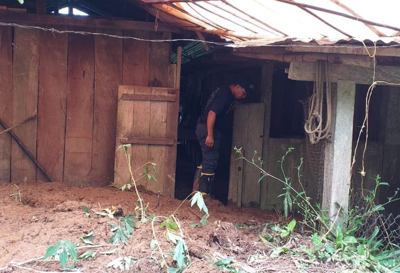 En Otanche (Boyacá), se registraron varios deslizamientos de tierra