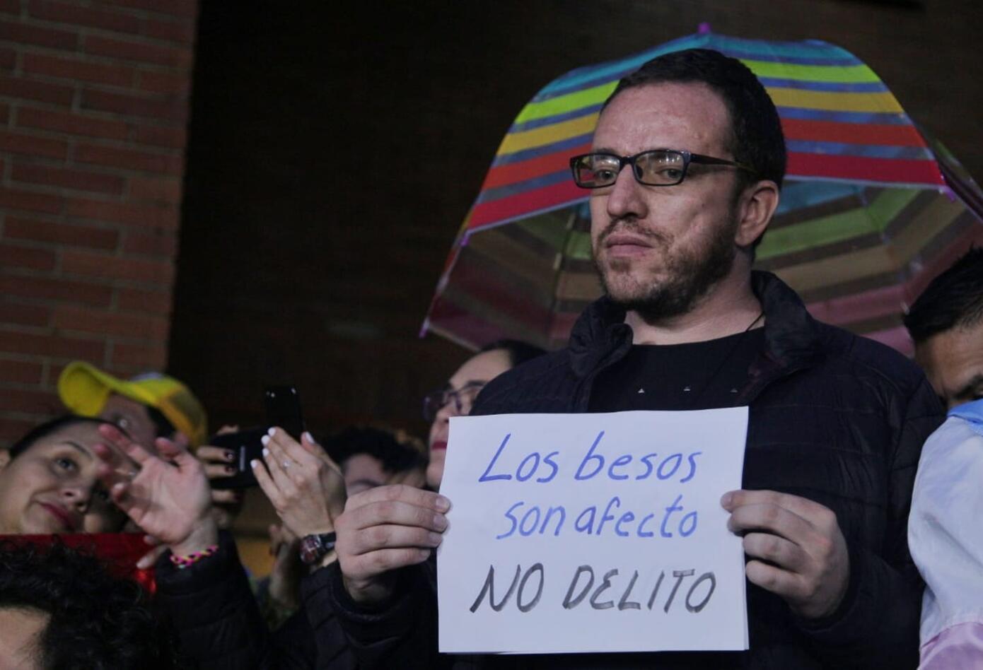 Besatón en Bogotá. 17 de abril 2019