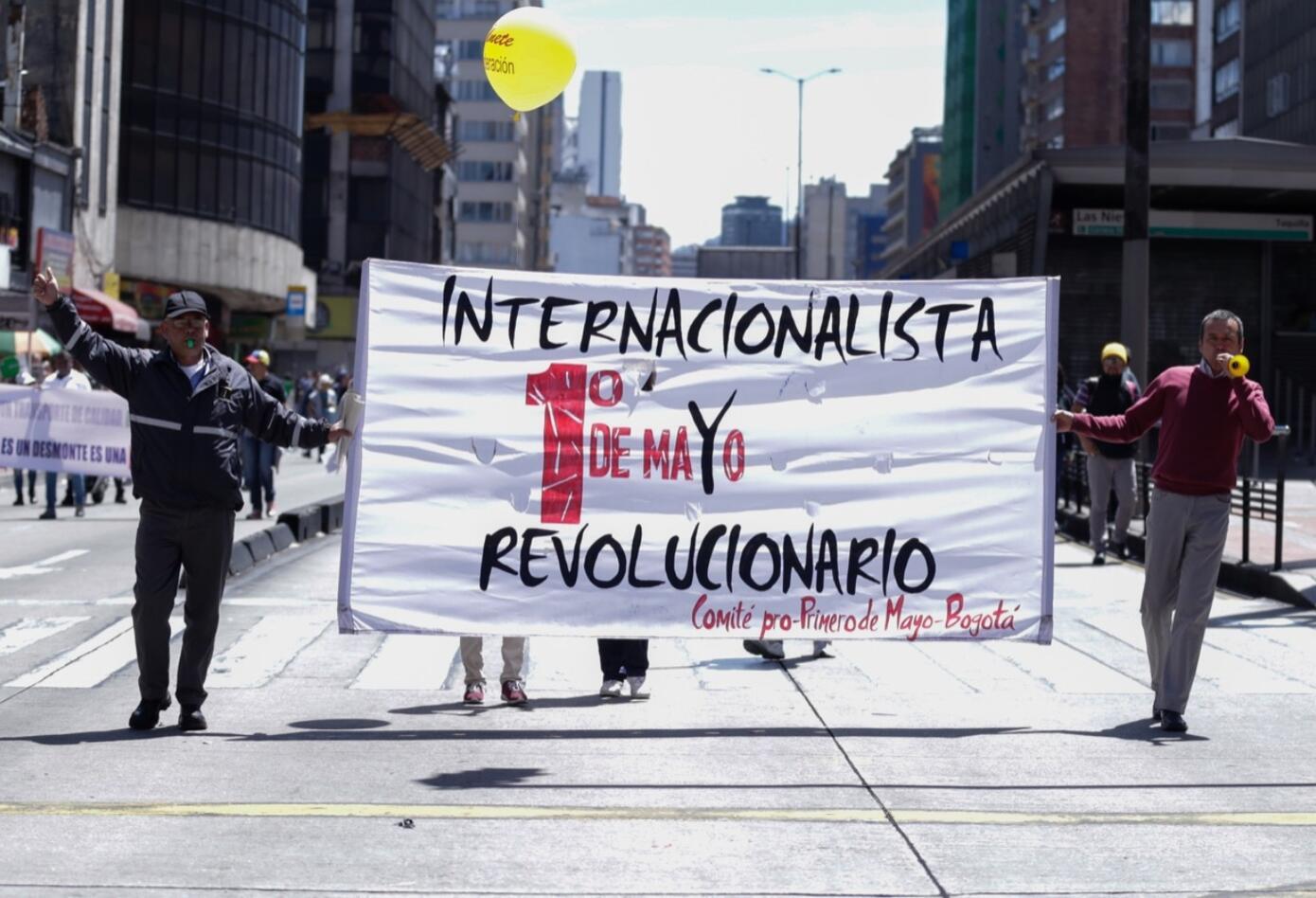 Marchas en la capital colombiana