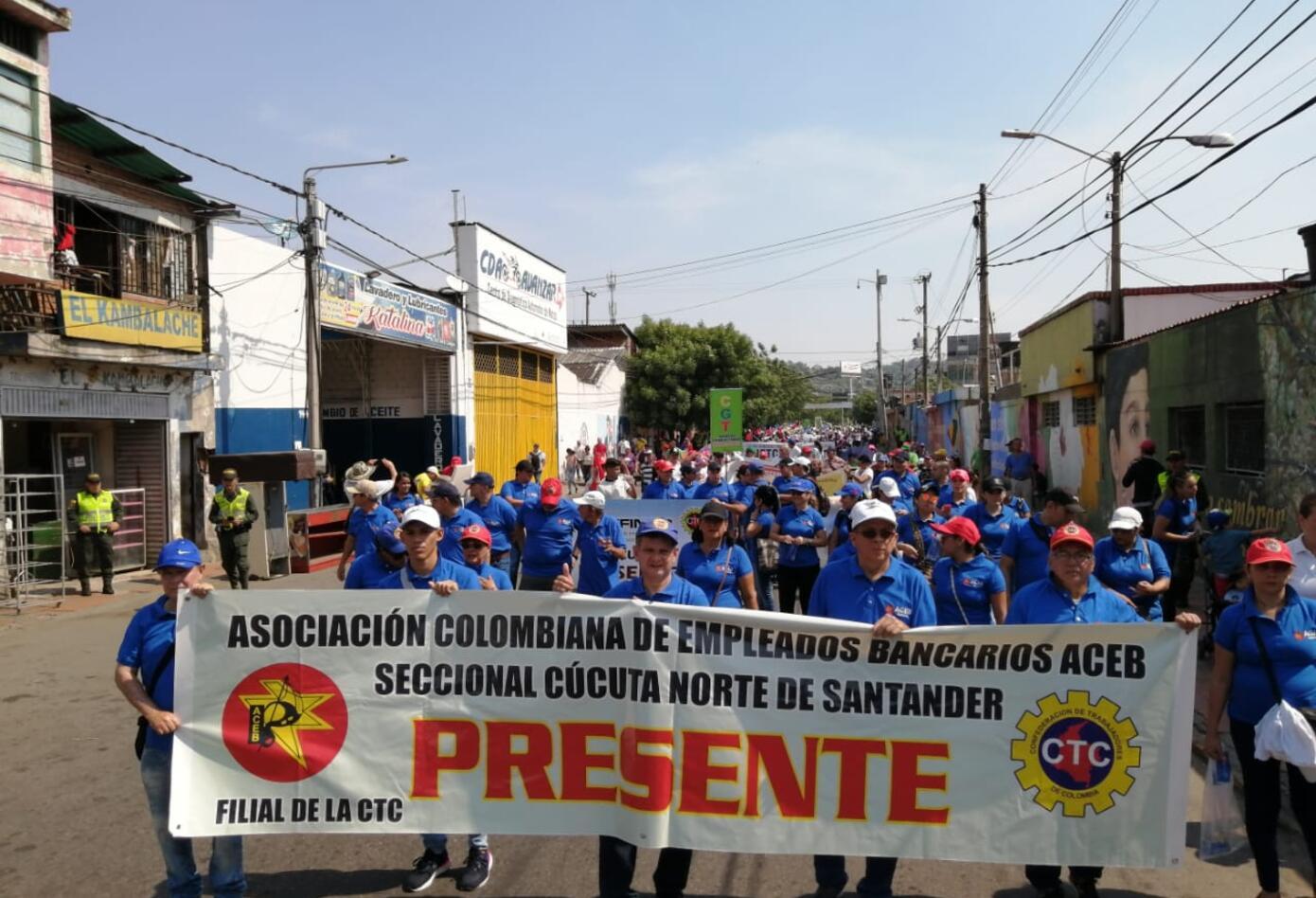 Marchas primero de mayo en Bucaramanga