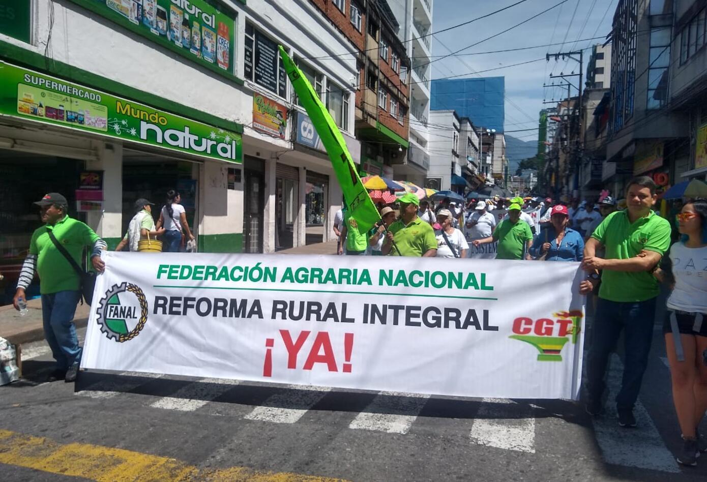 Marchas primero de mayo en Ibagué
