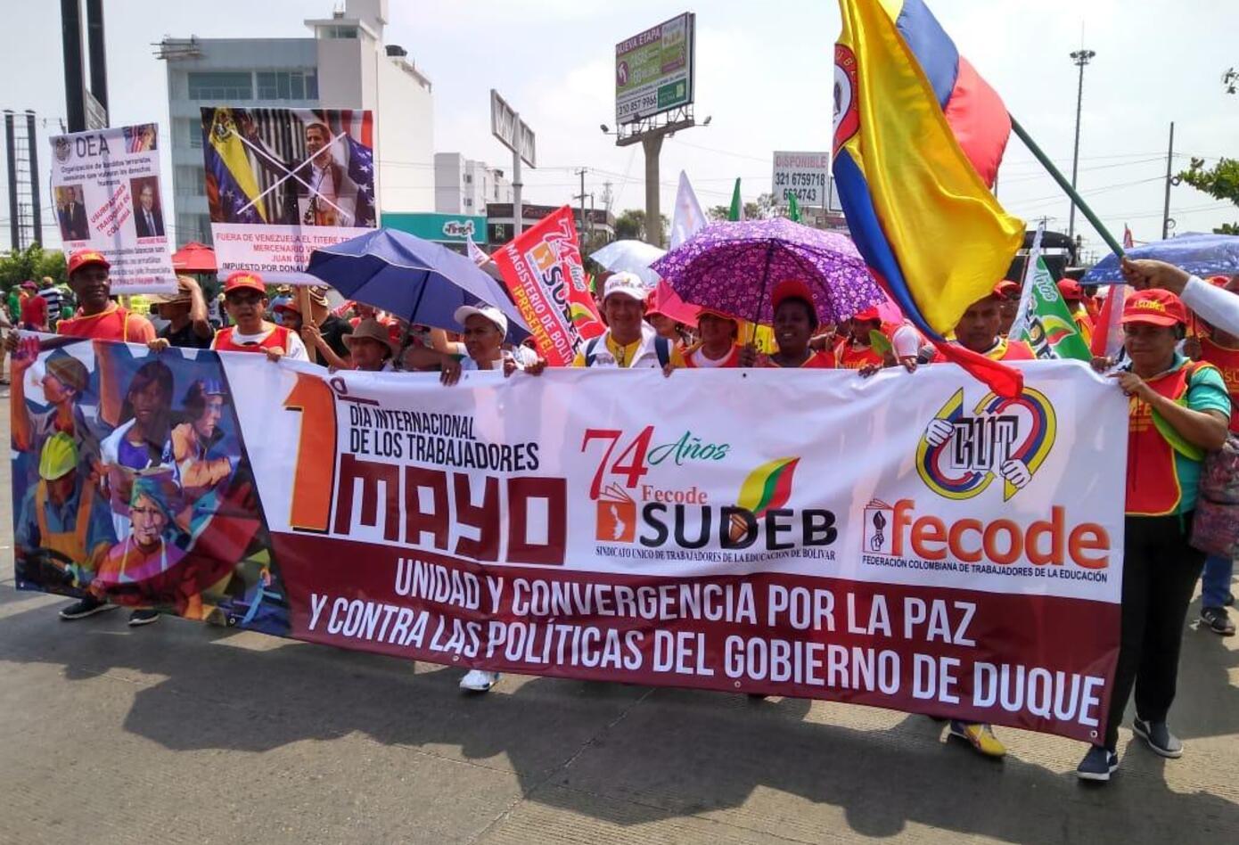Marchas primero de mayo en Cartagena