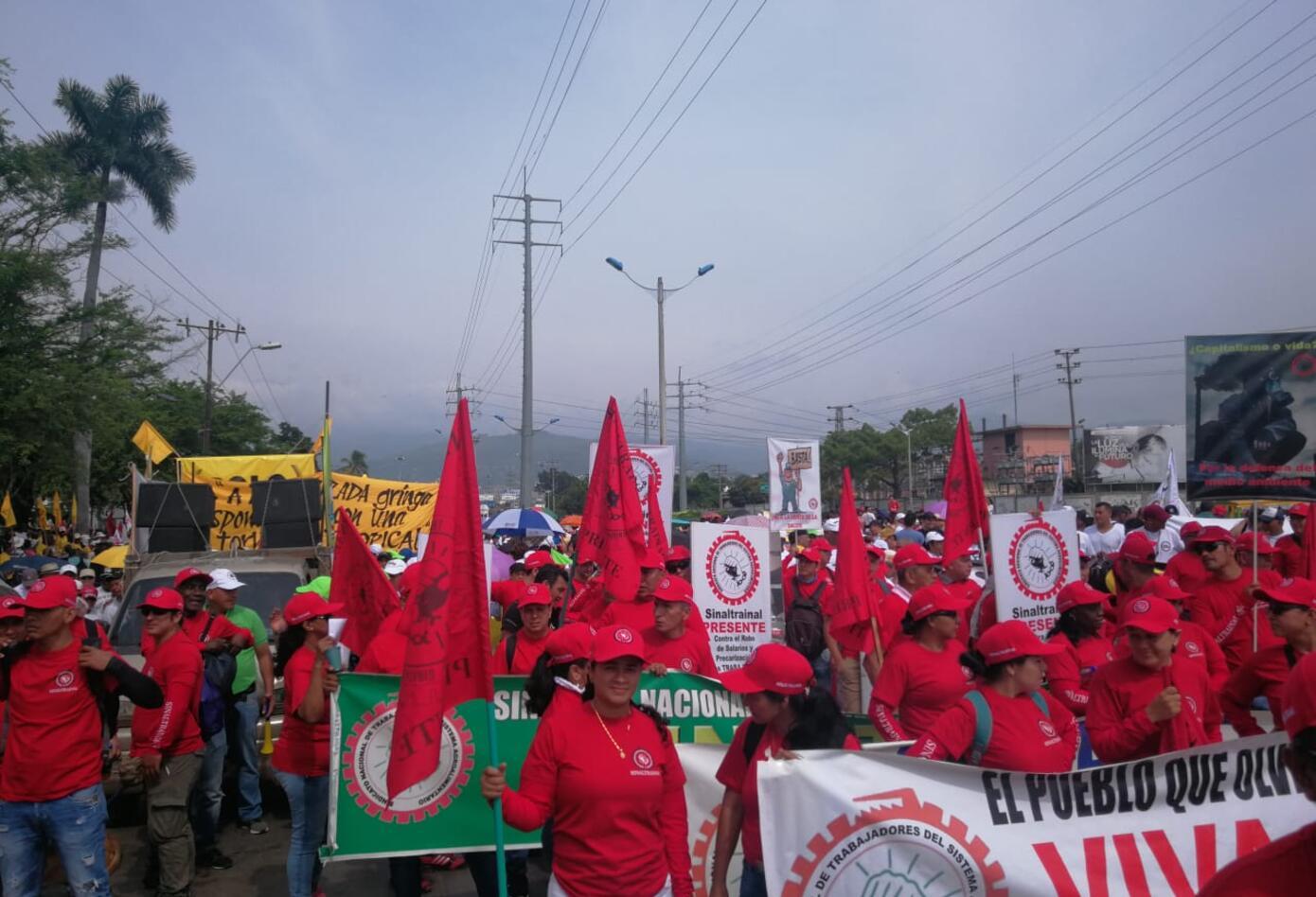 Marchas primero de mayo en Cali