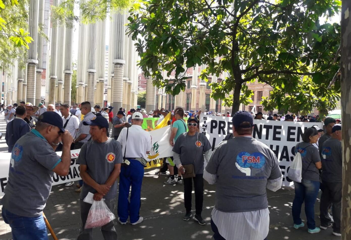 Marcha Día del Trabajo en Medellín